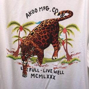 Akoo Men's 2XL Long Sleeve Graphic T-shirt NWT